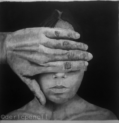 charcoal drawing by derick - the sppark youth empowerment platforms in nigeria