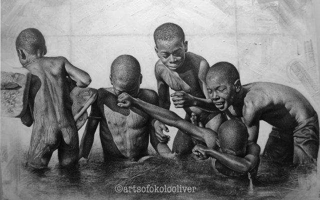 pencil drawings by Okolo Oliver - the spark youth empowerment platform in nigeria