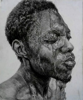 figurative realistic art by victor - the spark youth empowerment platform in nigeria