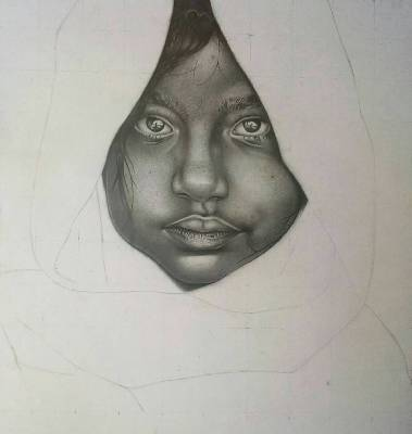 Hyper-realistic art by Godwin James - the spark youth empowerment platform in nigeria