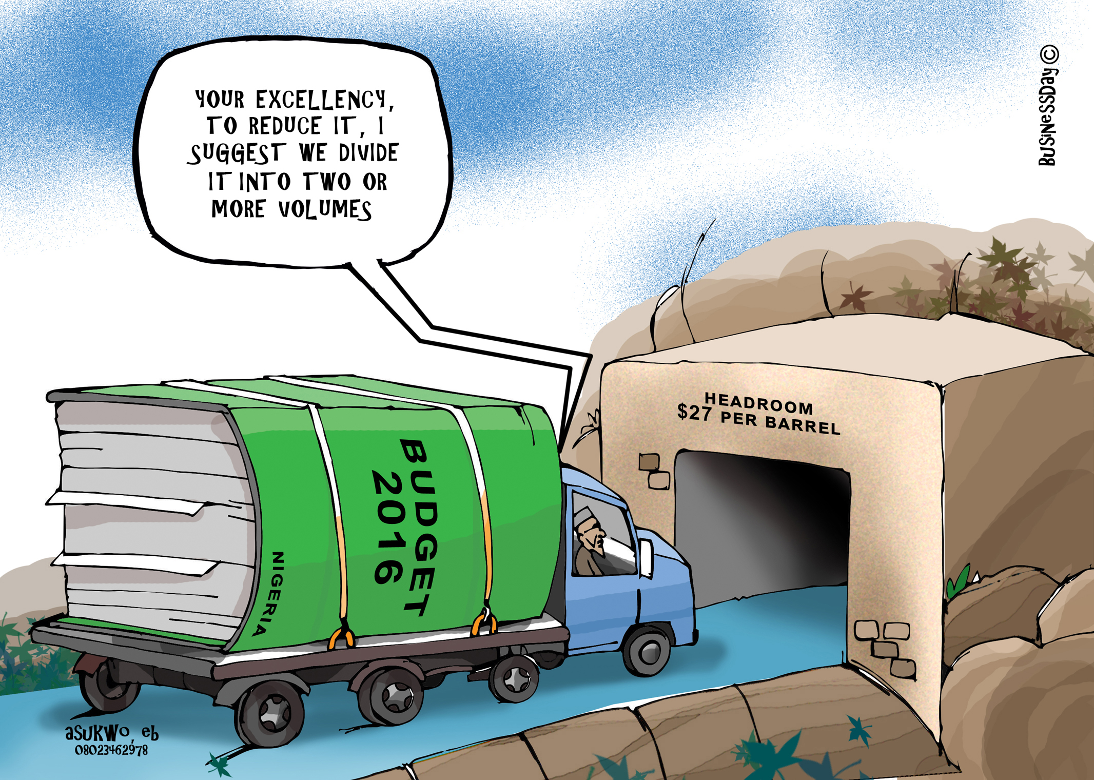 Political cartoon by Mike Asukwo on The Spark youth empowerment platform in nigeria