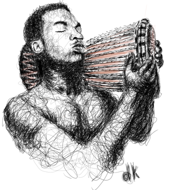 Visual art by the scribble quee on the spark - a youth empowerment platform in Nigeria