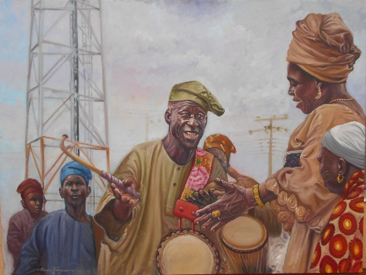 Painting by Segun Fagorusi - the spark youth empowerment platforms in Nigeria
