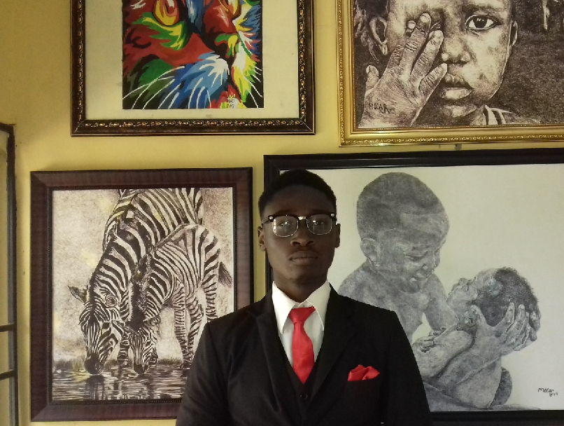 meet Micheal the realistic pen artist - the spark youth empowerment platform in nigeria